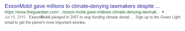 Exxon Paid Millions to Silence Negative Stories in The Past