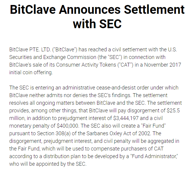 BitClave Reaches Settlement with SEC
