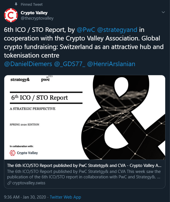 PWC & Crypto Valley Association Release Yearly STO Market Report