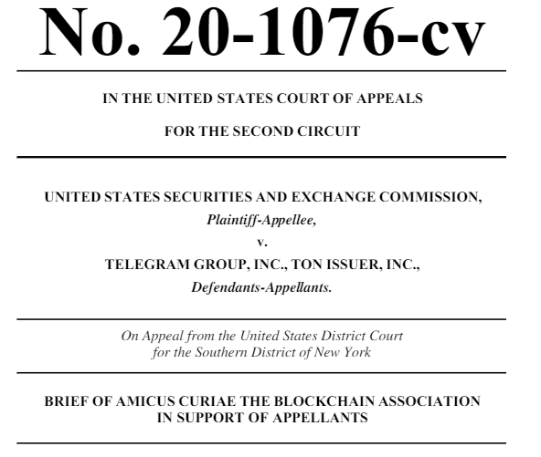 Amicus Brief Filed by Blockchain Association
