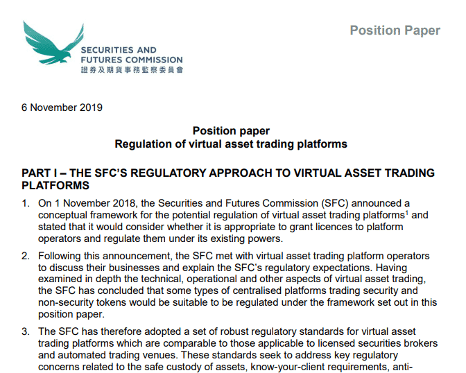 Opt-in Virtual Asset Trading Position Paper