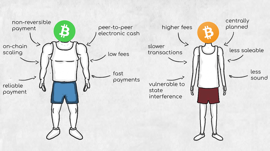 Bitcoin Cash vs Bitcoin via Medium