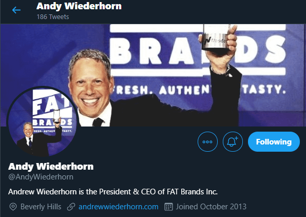 Fat Brands CEO Andy Wiederhorn