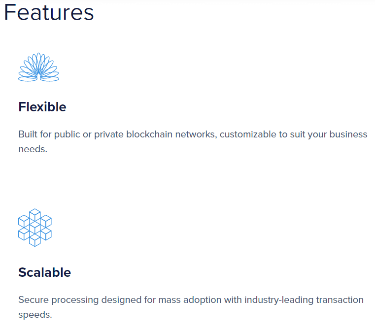 EOS Features via Homepage