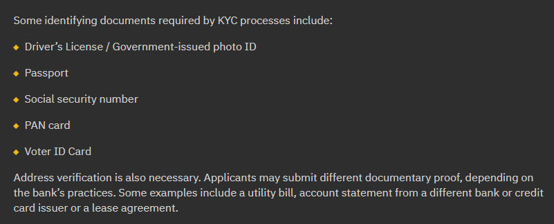 Binance KYC Requirements