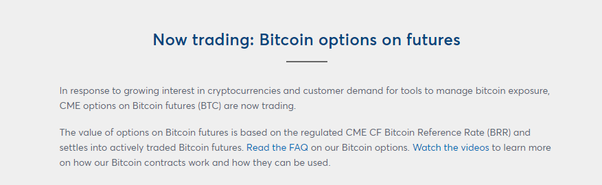 Bitcoin Futures via CME