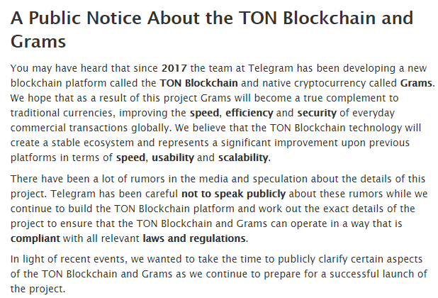 TON Blockchain Post via Telegram Twitter