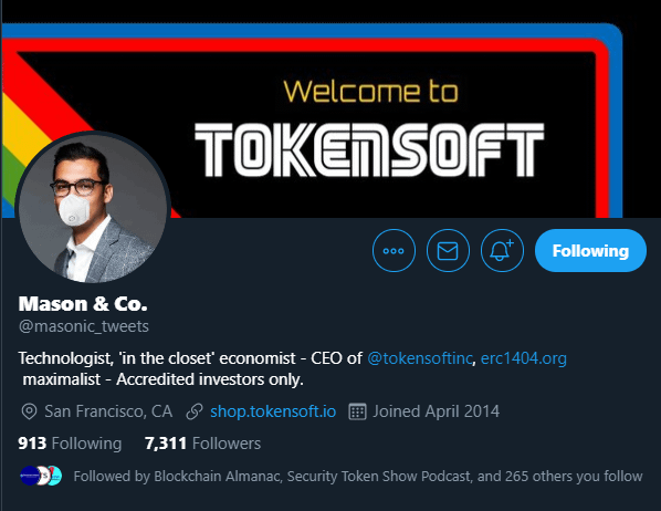 Mason Borda - TokenSoft's CEO