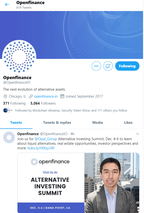 Openfinance via Twitter