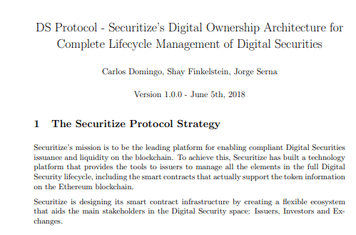 Securitize via Whitepaper