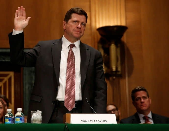 SEC Head Jay Clayton via The Wallstreet Journal