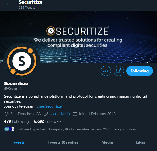 Securitize via Twitter