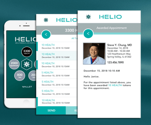 HELIO Dapp via Healthereum Website