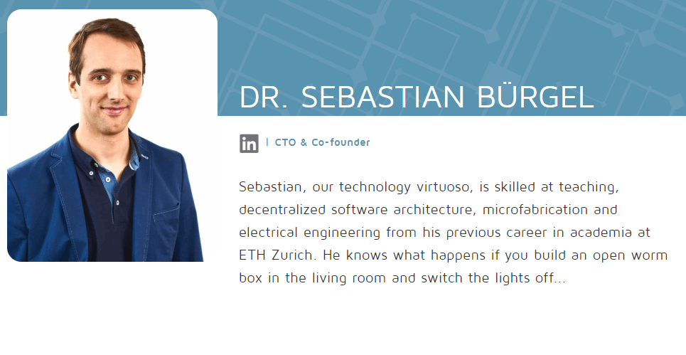 Validity Labs Co-Founder Dr. Sebastian Burgel