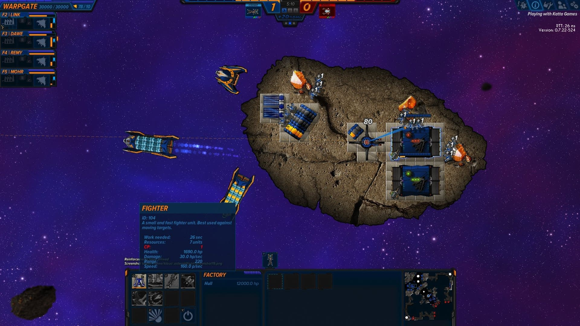 New Games on Steam:  Asteroid Fight