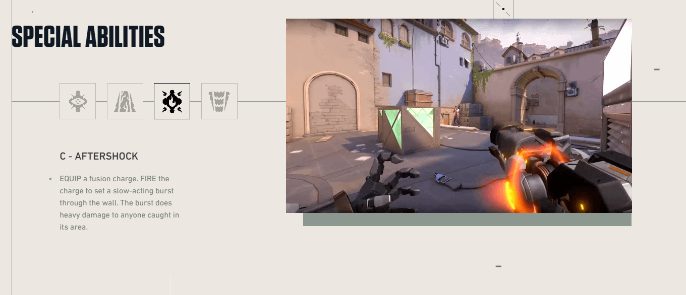 Aftershock goes through the wall, dealing a lot of damage on the other side. (Image: Play Valorant)