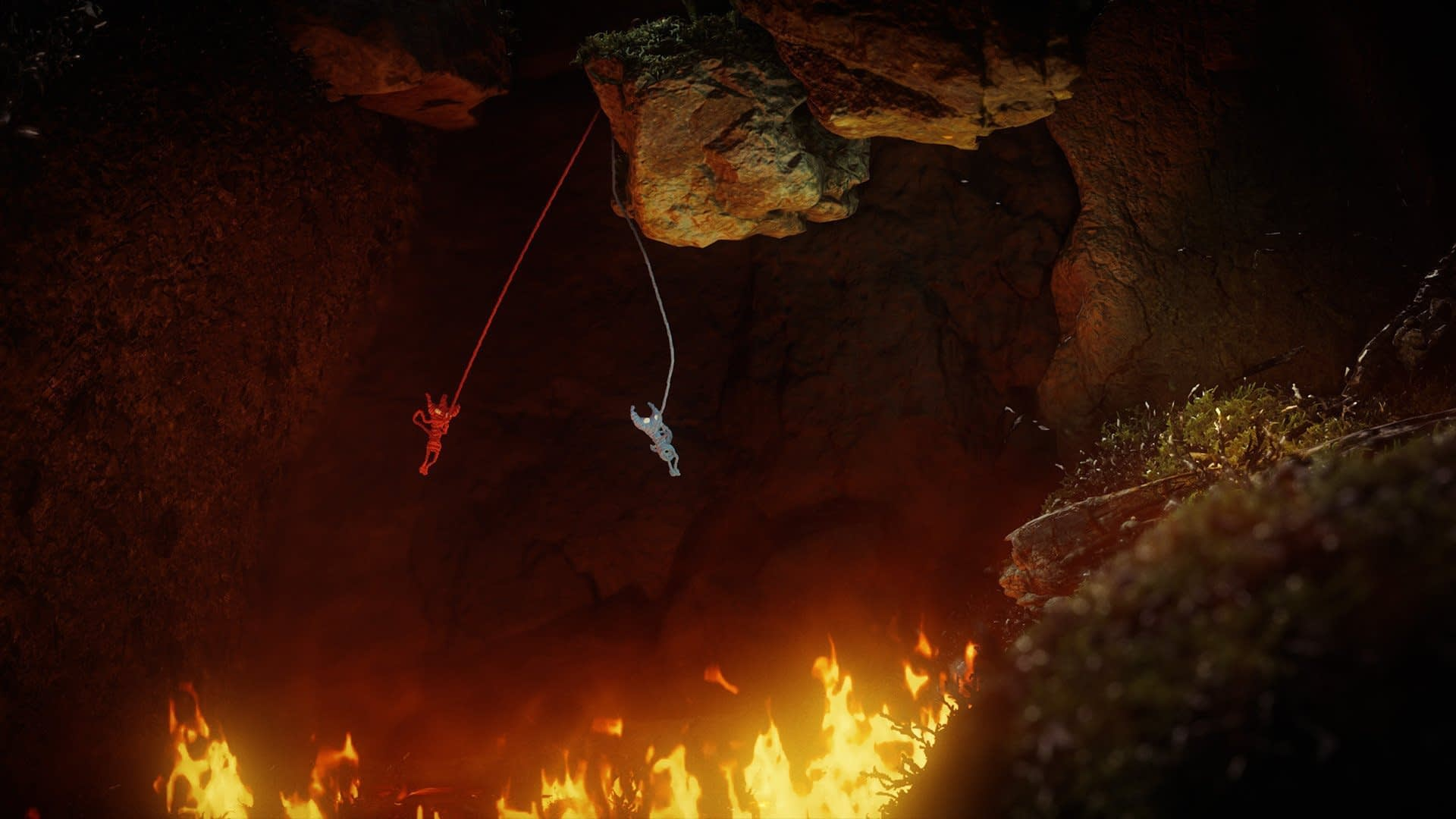 Unravel two gameplay