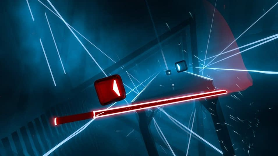 A gameplay of Beat Saber, a popular VR Game