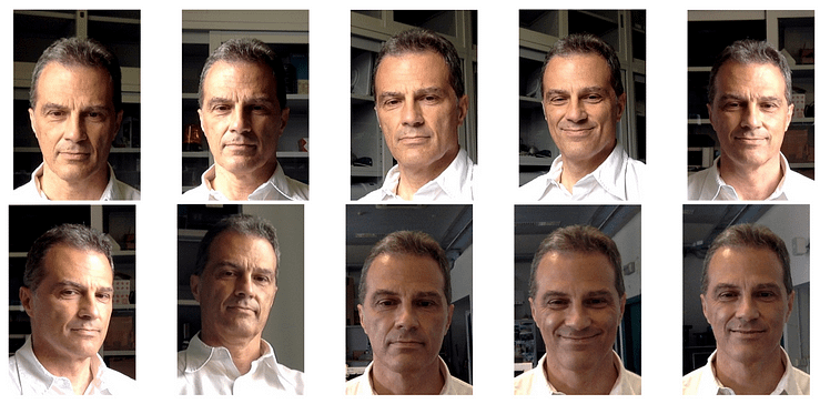 Images used in the 'Master Key' system, to be included at the training phase. The 'master face' is Mauro Barni, one of the authors of the research paper.