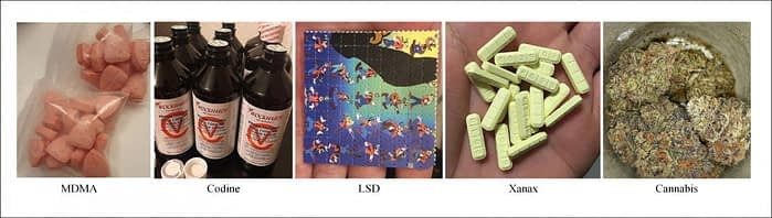 Drug-related images brought into the project's database.
