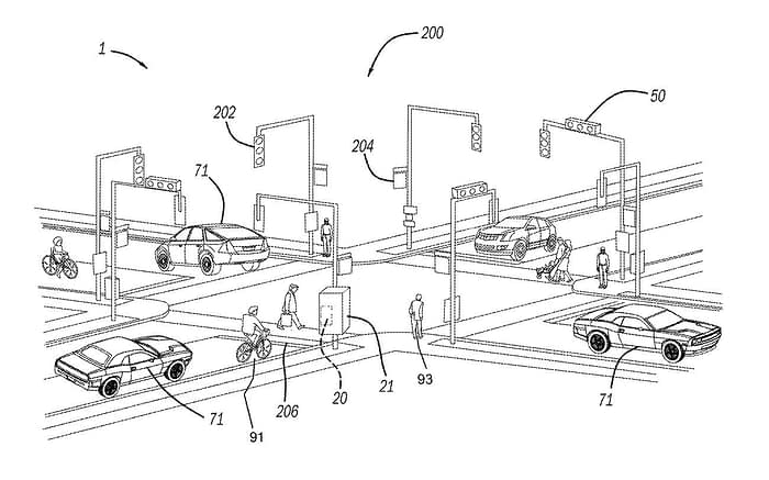The UMich patent is not a proprietary, in-car system aimed at insurance oversight, nor designed solely to produce forensic data, but rather relies on well-resourced edge computing nodes deployed at traffic intersections to provide immediate and actionable feedback, by collating data from roadside edge computing resources and from sensors installed (presumably by law) in nearby vehicles. Source: https://pdfaiw.uspto.gov/76/2021/50/012/1.pdf