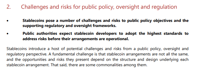 G7 Report on Concerns of Managed Stablecoins