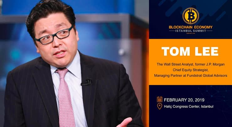 Famous Wall Street Analyst Tom LEE  at the Blockchain Economy Istanbul Summit